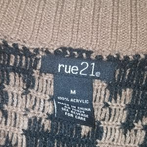 Rue21 Sweaters - Tan and black knitted shrug